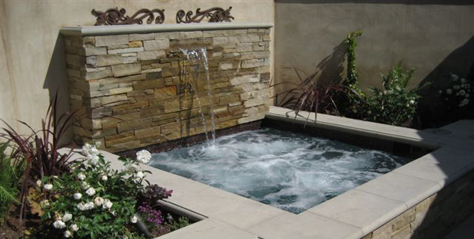 Spa New Construction and Water Feature - Via Olivera Project #6